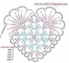 Coração deer crochet