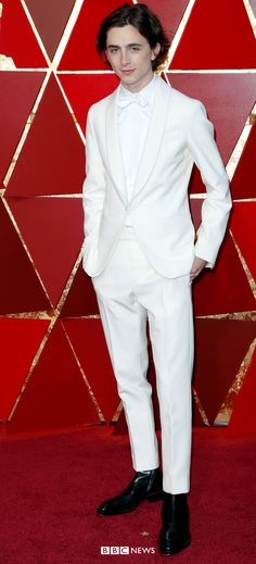 Oscars Call Me By Your Name star Timothée Chalamet stood out in an all-white ensemble by Berluti Allison Janney, Cultural Events, Big News, Salma Hayek, Jennifer Lawrence, All White, Oscars, Girl Crushes, Movie Stars