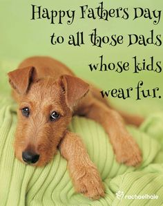From my family to yours, to the dads whose fur kids are their world.