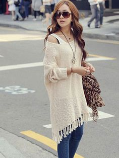 Batwing Long Sleeve Casual Sweater Dress
