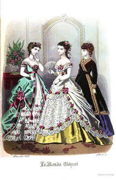 Le Monde Elegant 1868 December