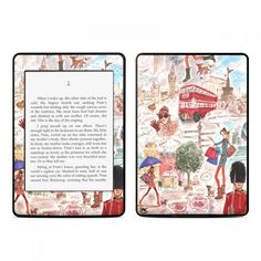For the reader and traveler. Kindle cases with Paris and London illustrations