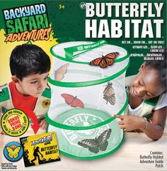 #BackyardSafari Butterfly Habitat - observe butterflies safely this spring! #Easter gift idea!