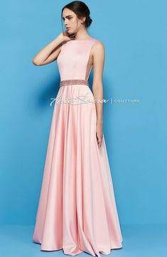 Vestido de festa rosa claro, rosa nude, rosé