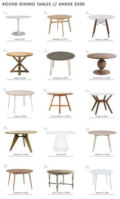A Roundup of 126 Dining Tables for Every Style and Space - Emily Henderson - In case you missed it yesterday, Ginny introduced you to a dining room that we are working on for o - Dining Nook, Dining Room Sets, Dining Room Design, Dining Chairs, Round Dining Tables, Ikea Round Table, Circle Dining Table, Round Outdoor Dining Table, Round Pedestal Dining Table