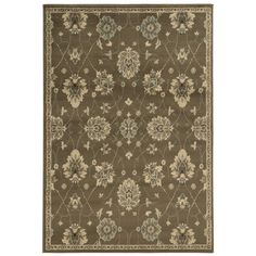 Dress up your home's decor with the addition of this beautiful traditional floral area rug. With a warm, casual color palette of brown, beige, blue and taupe, this oriental rug will add rich style to any space.