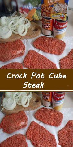 Beef Cube Steak Recipes, Chopped Steak Recipes, Easy Chicken Recipes, Crock Pot Cube Steak, Pork Rib Recipes, Cuban Recipes, Meat Recipes, Recipies, Dinner Recipes