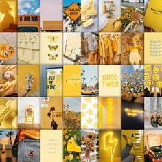 Sunshine photo Collage Kit yellow aesthetic | Etsy