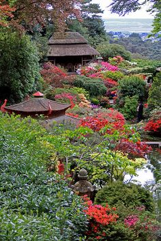 Japanese themed garden at Compton Acres in Poole, England