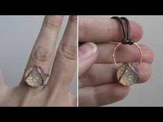 Criss Cross Cabochon Wire Wrapped Ring or Pendant Tutorial - YouTube Wire Rings, Wire Wrapped Rings, Gold Rings, Jewelry Tools, Wire Jewelry, Sell On Etsy, Wire Wrapping, Diamond Earrings, Jewels