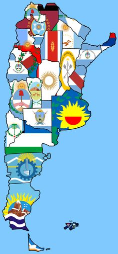 Flag map of Argentina How I long to return to my home there. Argentina Map, Argentina Culture, Argentina Travel, Argentina Recipes, Special Kids, South America Travel, The Province, Preschool Art, American History