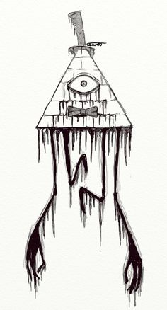 Creepy Bill Cipher Gravity Falls Drawing Tattoo