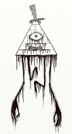 Creepy Bill Cipher Gravity Falls Drawing Tattoo