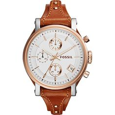 Now in stock Fossil Original Boyfriend Chronograph Leather Watch