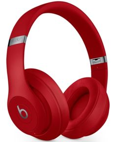 Beats By Dr. Dre Studio 3 Noise-cancelling Wireless Headphones In Red Wireless Headphones Review, Cute Headphones, Noise Cancelling Headphones, Over Ear Headphones, Beats By Dre, Beats Studio 3, Smartphone, Laptop, Gadgets