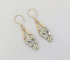 Vintage Jewelry Handmade Earrings Art Deco Rhinestone Earrings by JryenDesigns