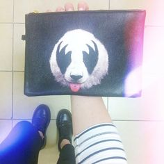Rocked too hard? Our KISS of a Panda bag has your back (find it on our #Etsy)