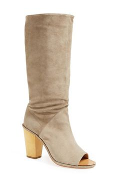 VC Signature 'Opah' Open Toe Suede Boot (Women) available at #Nordstrom