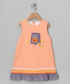 Take a look at this Orange Gingham Halloween Jumper - Infant, Toddler & Girls by Candyland on #zulily today!