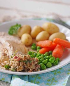Spring Chicken with simple stuffing, comfort food with a Spring twist www.larderlove.com