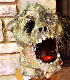 Rot - Severed zombie head made from paper mache