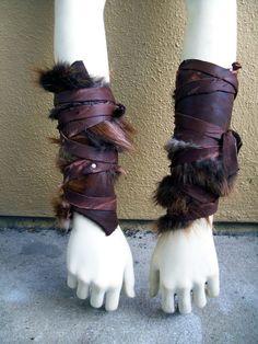 fur leather arm - Google Search