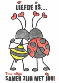Liefde is voor altijd samen zijn - Valentijnskaarten - Te vinden op www.Kaartje2go.nl