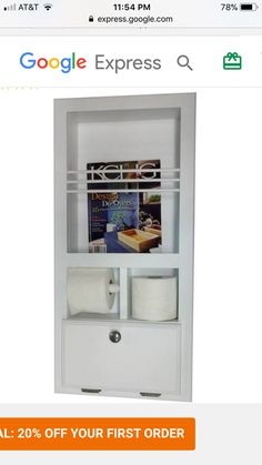 Wall Insert Toilet Paper Holder Cup Holder And Magazine