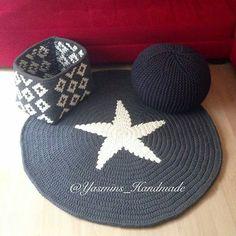 Amei o conjunto, principalmente o cesto😍. . . By👉  @yasmins_handmade . . . #crochet #crochetaddict #crochê #croché #croshet  #yarnlove #yarn #yarning #knitlove  #knit #knitting #trapillo #ganchilloxxl #ganchillo #fiodemalha #handmade #totora #penyeip #вязаниекрючком #uncinetto #かぎ針編み  #inspiracao #inspiration  #alfombra #tapetefiodemalha #rug #decor #cestatrapillo #cestotrapillo #cestofiodemalha