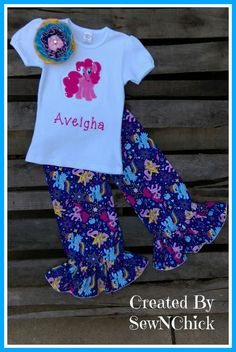 Pinkie Pie  Ruffled Pant Outfit by SewNChick on Etsy