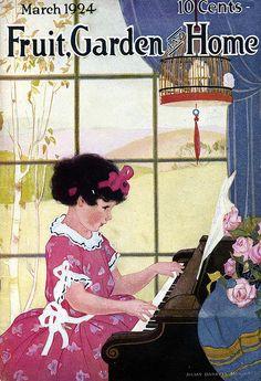 "Vintage Magazine cover - ""Fruit, Garden and Home"" - March 1924 Vintage Children's Books, Vintage Ephemera, Vintage Ads, Vintage Prints, Vintage Posters, Old Magazines, Vintage Magazines, Vintage Pictures, Vintage Images"