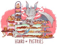 Hoard of Pastries. Such an adorable print!