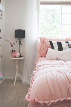 Happy Monday! I am sharing all the lovely little details of my daughter's bedroom makeover and where you can snag the same items! When you design a space, it can be all about the details. Little pieces to really make the space extra special. I chose items that were truly reflective of who my