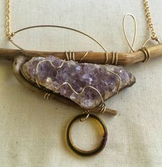 Royal Serenity Amethyst Crystal Necklace by BAverySyrigFineArt on Etsy