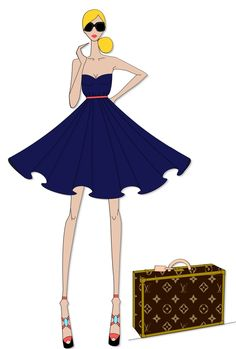 Fashion design, style, sketch, LV, Louis Vuitton