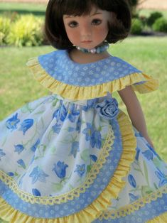 PRINTED Sewing Pattern for Dianna Effner Little Darlings by Farmcookies… Frock Patterns, Baby Dress Patterns, Sewing Patterns, Frocks For Girls, Little Girl Dresses, American Girl, Girls Frock Design, Kids Clothes Patterns, Girl Doll Clothes