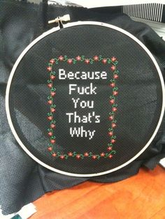 """Because"" 