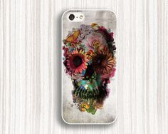 art skull iphone caseflower skull iphone 5s caseskull by Emmajins, $9.99