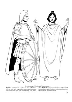 Byzantine Fashions 25 / Byzantine Fashions / Kids printables coloring pages