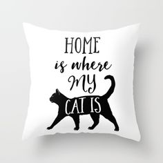 #cat #home #pillow #catlady #blackcat #cozy #comfy #bed #style