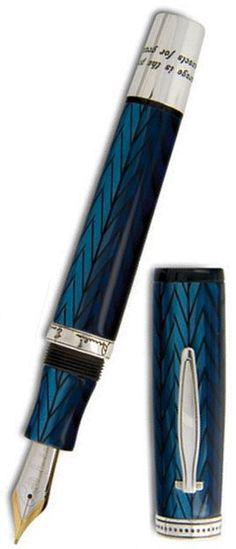 Krone Amelia Earhart Limited Edition Fountain Pen.  Love the Herringbone pattern! and color!