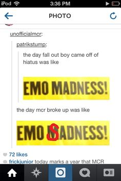 "Okay, just this once I'll let the ""emo"" thing slide JUST THIS ONCE *lolz*"