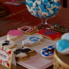 These Circus cookies are so cute! See more party ideas at CatchMyParty.com