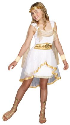 Tween Miss Olympian Costume - Girls' Goddess Costumes - New Costumes for Halloween 2015