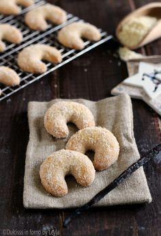 Vanillegipfeln - Cornetti alla vaniglia, ricetta biscotti di Natale Dulcisss in forno by Leyla