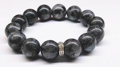 Bransoleta+Labradoryt+czarny+Kamień+14+mm+w+Yeve+jewelry+na+DaWanda.com