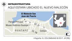 El nuevo malecón para Guatapé no estará listo antes del 2018 List, Map, Guatape, Museums, Parks, Maps
