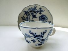 MEISSEN Large Tea Cup Saucer Set Iconic Blue by Passion4Europe