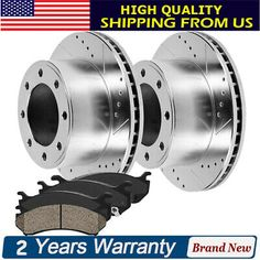 Front Brake Rotors /& Ceramic Pads For 2005-2010 2011 2012 Ford F350 Super Duty