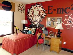 Mad Science Boys Room...i would get rid of the Einstein...i could see that giving my son nightmares